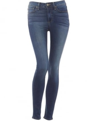 Womens Hoxton Jean, Skinny Fit Tristan Blue Transcend Denim