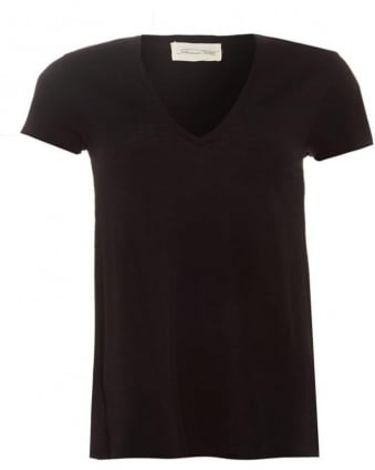Womens Jacksonville T-Shirt V-Neck Black Tee