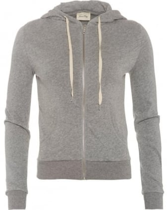 Womens Japonstate Hoodie, Mottled Grey Hooded Sweatshirt