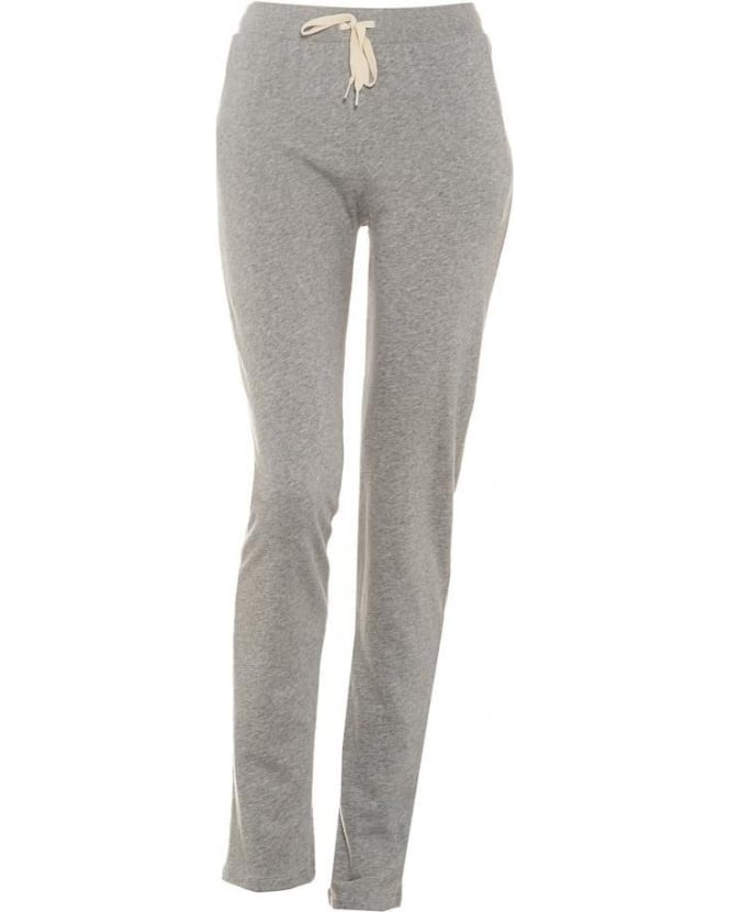 American Vintage Womens Japonstate Sweatpants, Mottled Grey Drawstring Joggers