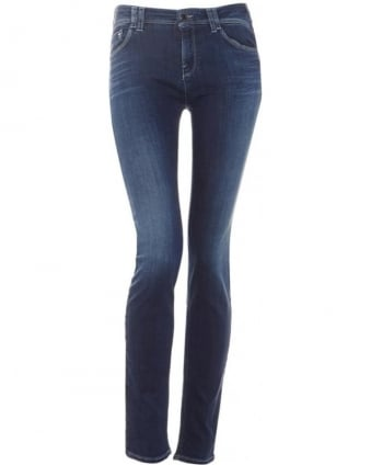 Womens Jeans Mid Light Wash J28 Stretch Skinny