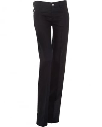 Womens Jeans Navy Blue Linen Trousers