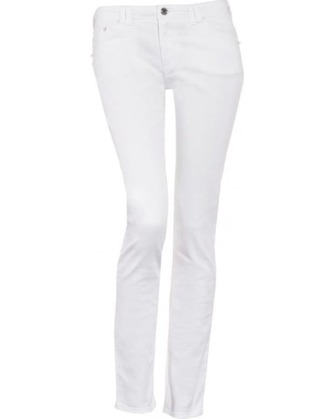 Armani Jeans Womens Jeans White J28 Stretch Skinny
