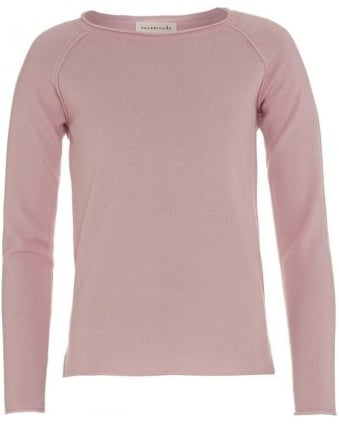 Womens Jumper Cashmere Laica Rose Pink Knit