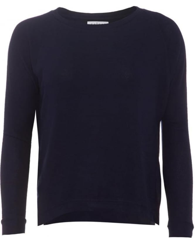 Velvet by Graham & Spencer Womens Jumper Robina 03 Navy Jersey Top