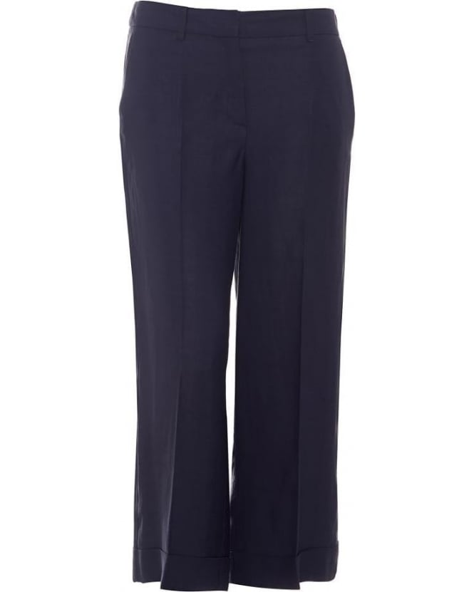I Blues Womens Navarra Trousers, Navy Blue Culottes