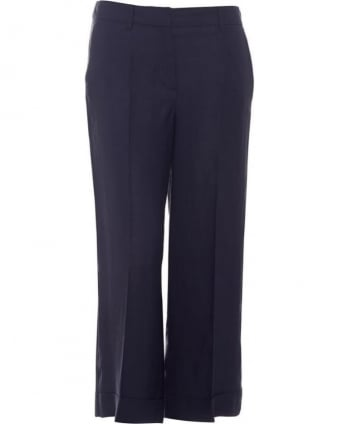 Womens Navarra Trousers, Navy Blue Culottes
