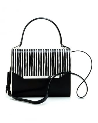 Womens Pietra Bag, Monochrome Eyeliner Stripe Body Bag