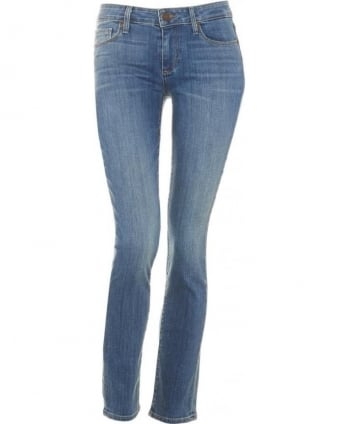 Womens Skyline Ankle Peg Jean, Blue Quill Transcend Denim