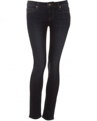 Womens Skyline Ankle Peg Jean, Super Rebellious Skinny Dark Denim