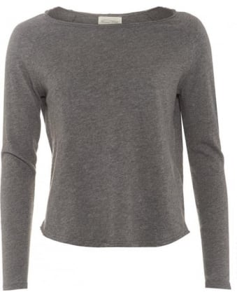 Womens Sonoma T-Shirt Mottled Heather Grey Long Sleeve Tee