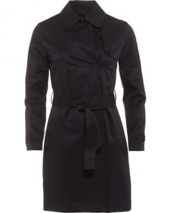Womens Trench Coat, Navy Blue