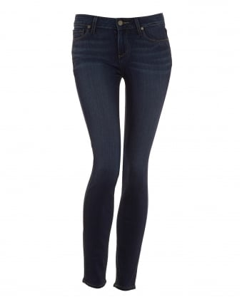 Womens Verdugo Ankle Jean, Nottingham Mid Wash Ultra Skinny Transcend Denim