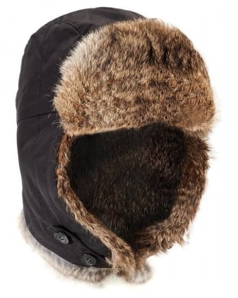 Arctic Cap Black Trapper Hat