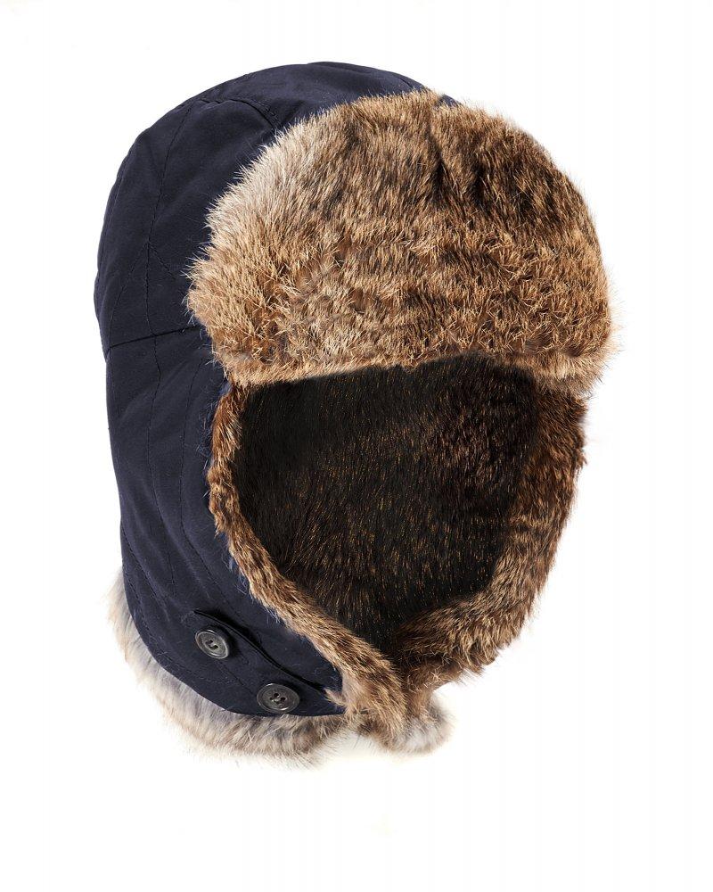 Woolrich Arctic Cap Dark Navy Trapper Hat 1a2371636e4b