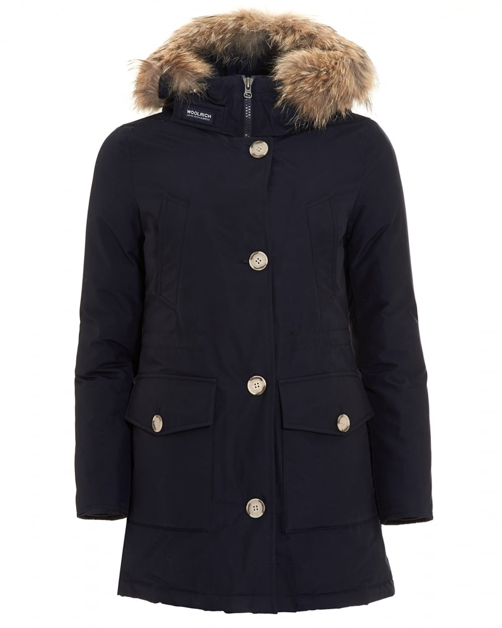 woolrich womens arctic long melton blue parka coat. Black Bedroom Furniture Sets. Home Design Ideas