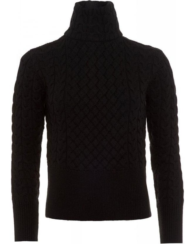 Barbour X Range Rover Terrain Knit Black Jumper