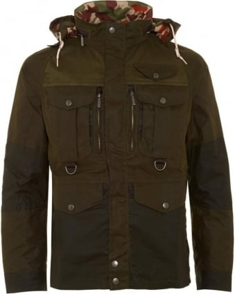 X White Mountaineering Mens Jacket Kitefin Slim Wax Archive Olive Jacket