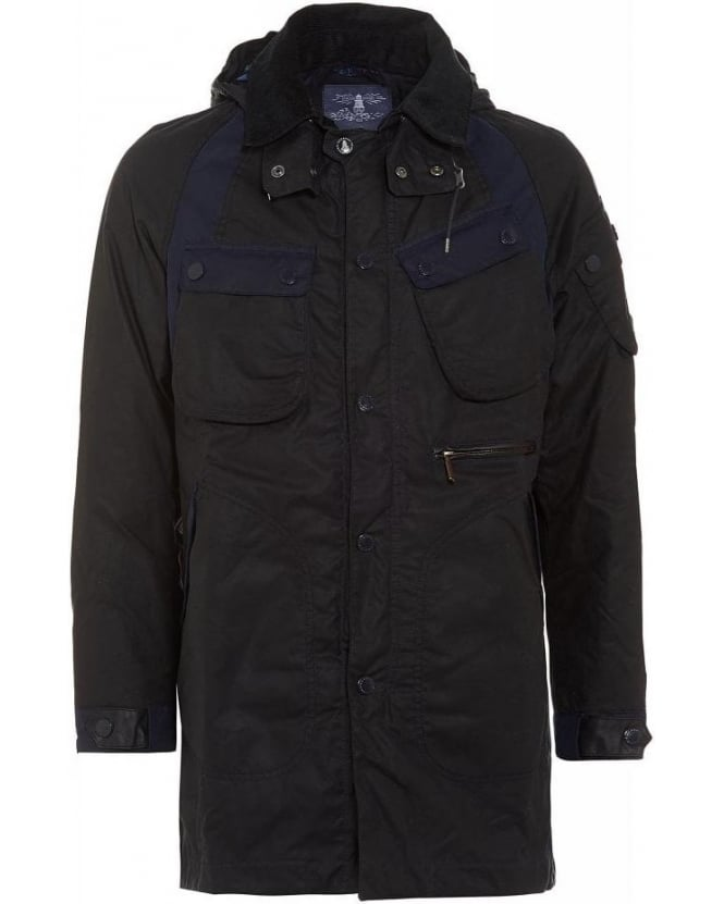 Barbour X White Mountaineering Navy Bleakazuma Wax Jacket