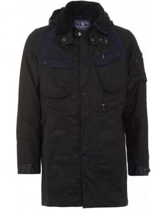 X White Mountaineering Navy Bleakazuma Wax Jacket