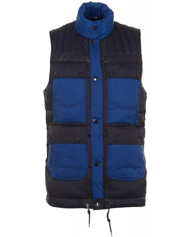 Barbour X White Mountaineering Raekawa Navy Quilted Gilet