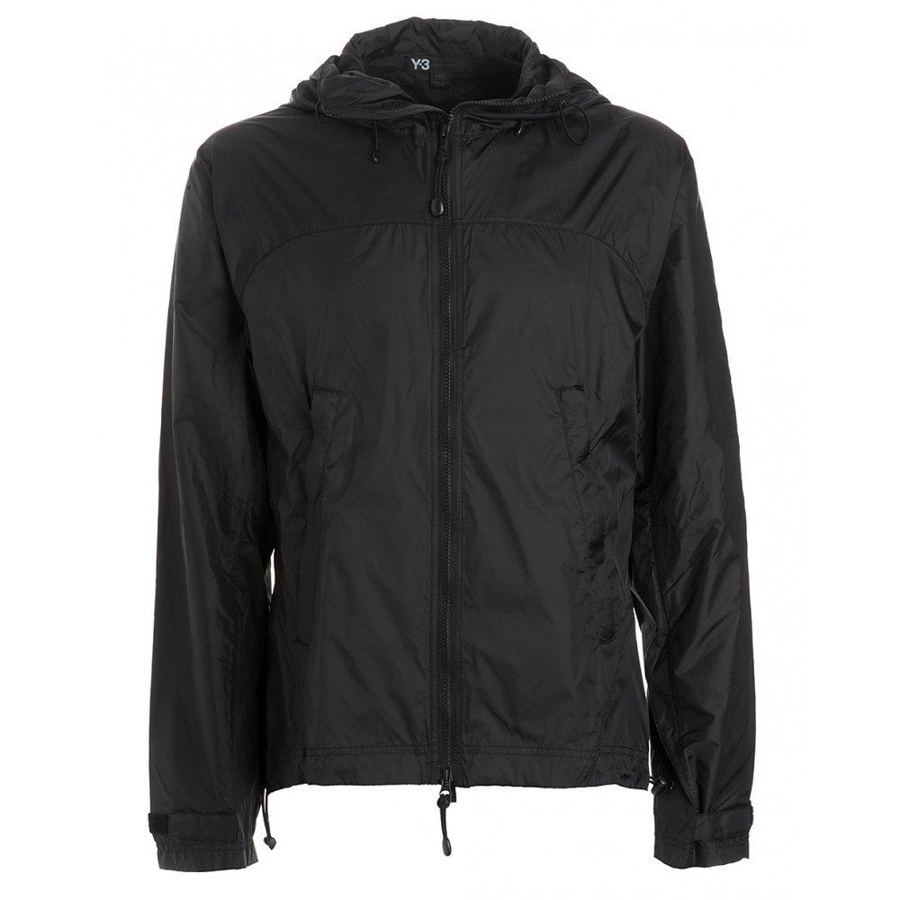 y 3 black hooded cycle jacket