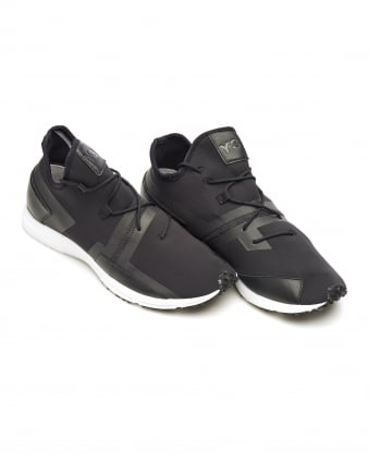 Mens Arc Trainers, Black Neoprene Reflective Sneakers