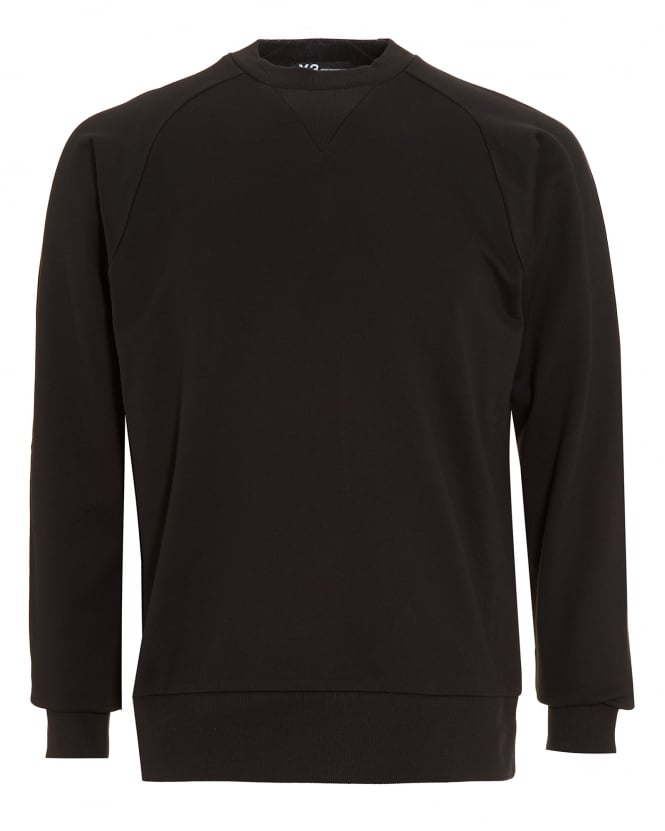 Y-3 Mens Black Logo Sweatshirt