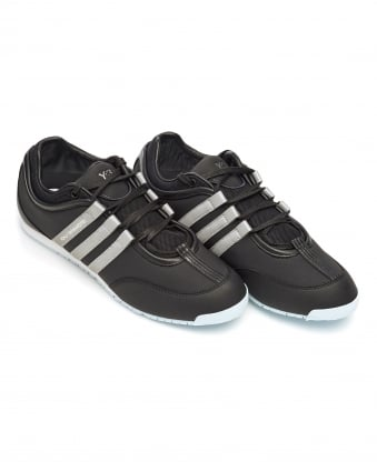 Mens Boxing Trainers, Black Lace Up Stripe Sneakers