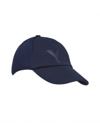 Mens Branded Trucker Cap, Side & Back Mesh Panels Navy Cap