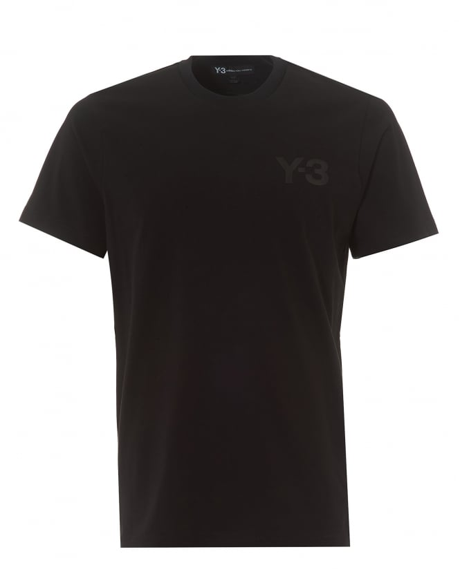 Y-3 Mens Classic Logo T-Shirt, Short Sleeved Black Tee