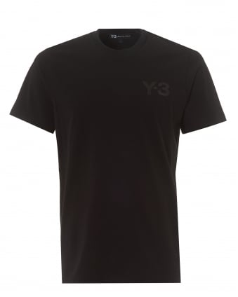 Mens Classic Logo T-Shirt, Short Sleeved Black Tee