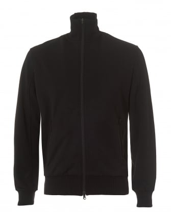Mens Classic Track Jacket, Zip Up Black Jacket
