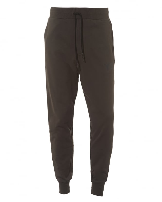 Y-3 Mens Classic Trackpant, Cuffed Black Olive Sweat Pants