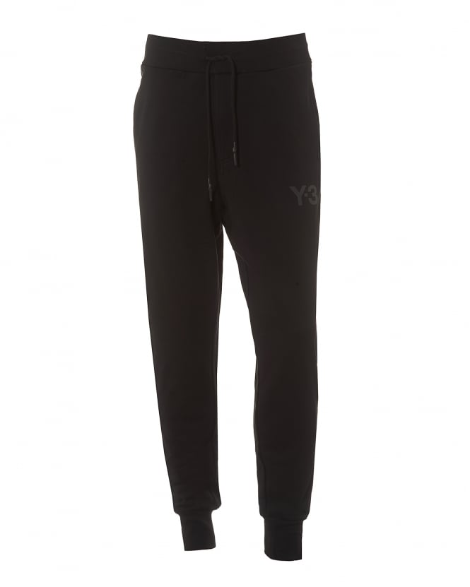 Y-3 Mens Classic Trackpant, Cuffed Black Sweat Pants