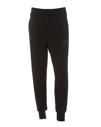 Mens Classic Trackpant, Cuffed Black Sweat Pants