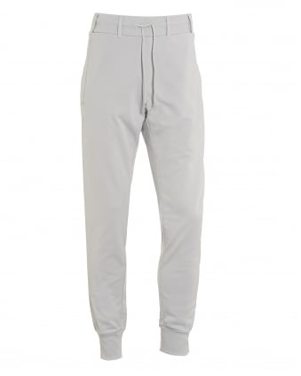Mens Cuffed Trackpants, Belt Looped Grey Sweatpants