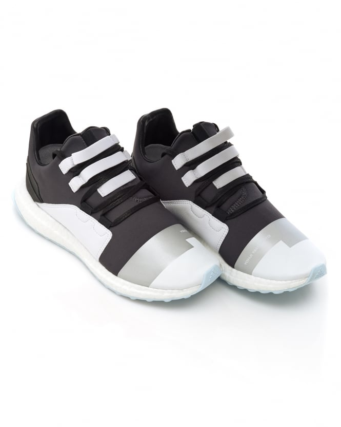 Y-3 Mens Kozoko Trainers, Steel Grey Low Boost Sneakers
