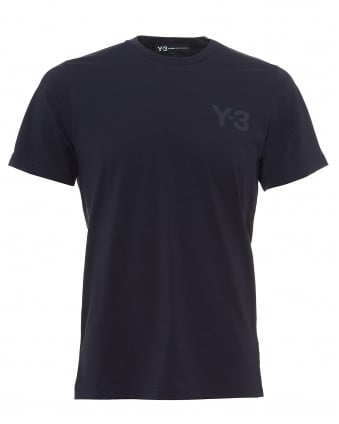 Mens Navy Classic Logo T-Shirt, Blue Short Sleeve Tee