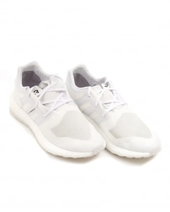 Mens Pure Boost All White Neoprene Trainers