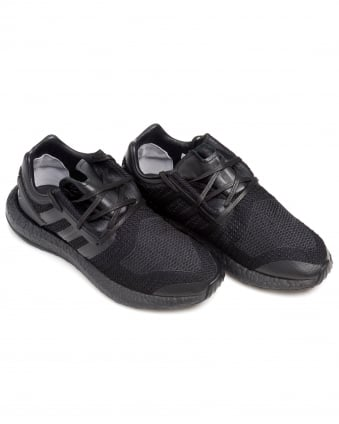 Mens Pure Boost Trainers, All Black Mesh Sneakers