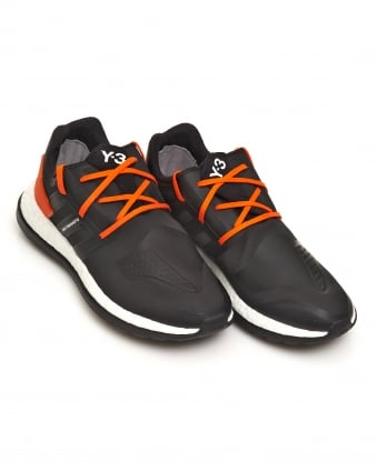 Mens Pure Boost ZG Neoprene Black and Orange Trainers