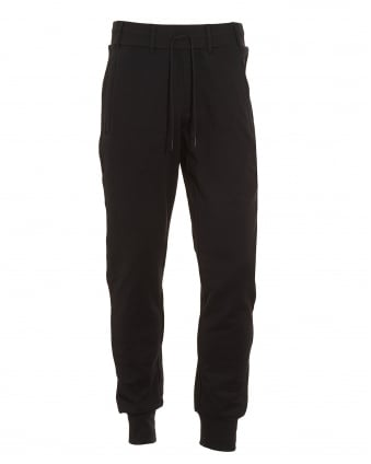 Mens Track Pant, Black Logo Slim Fit Joggers