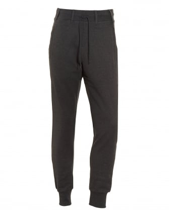 Mens Track Pant, Charcoal Grey Logo Slim Fit Joggers