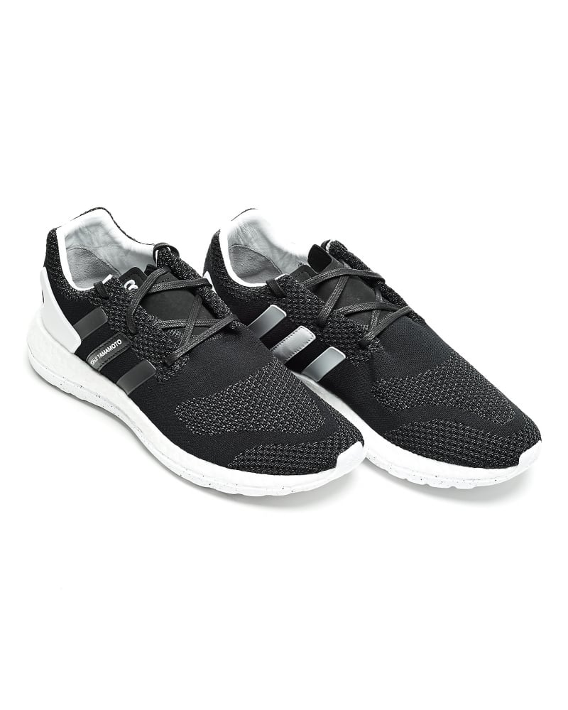 812021d776c2 Y-3 Mens Trainers Pure Boost ZG Knit Black Trainer