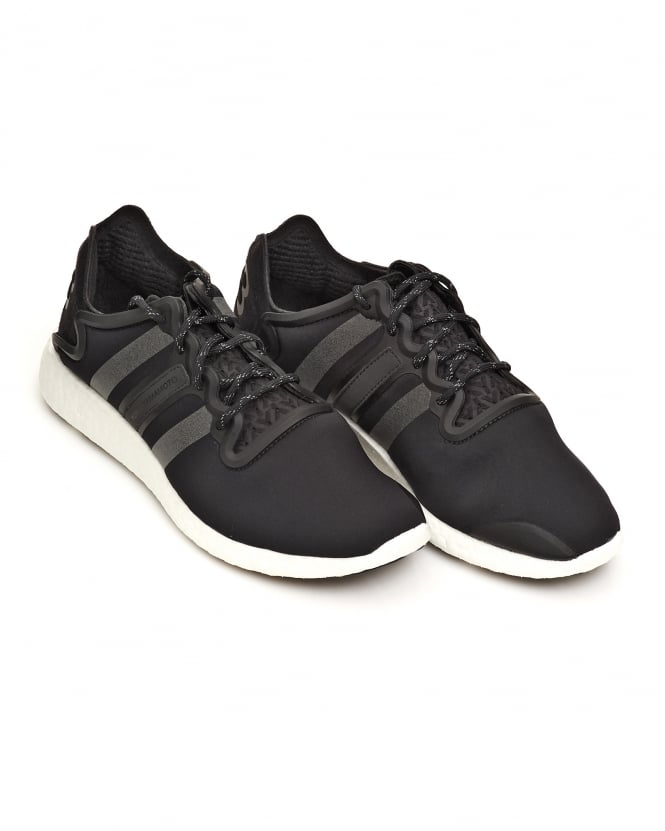Y-3 Mens Yohji Run Neoprene Core Black Trainers