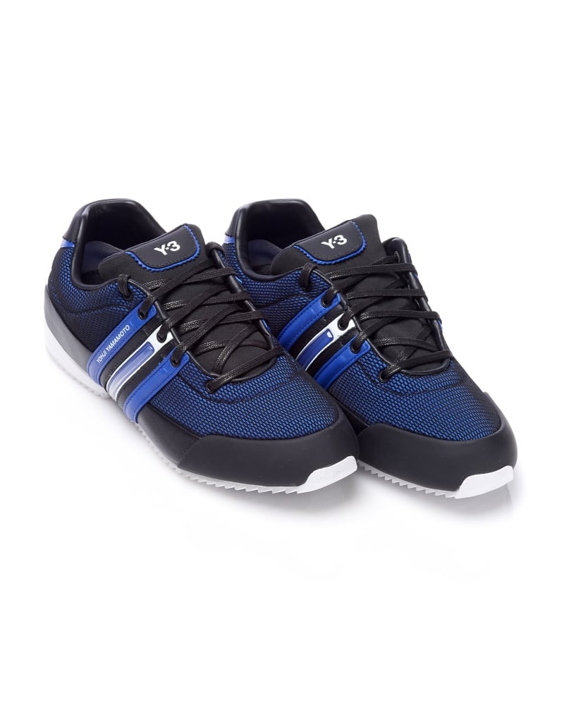 Y-3 Sprint Trainers Mens Black Electric Blue Trainer cfeea36d1