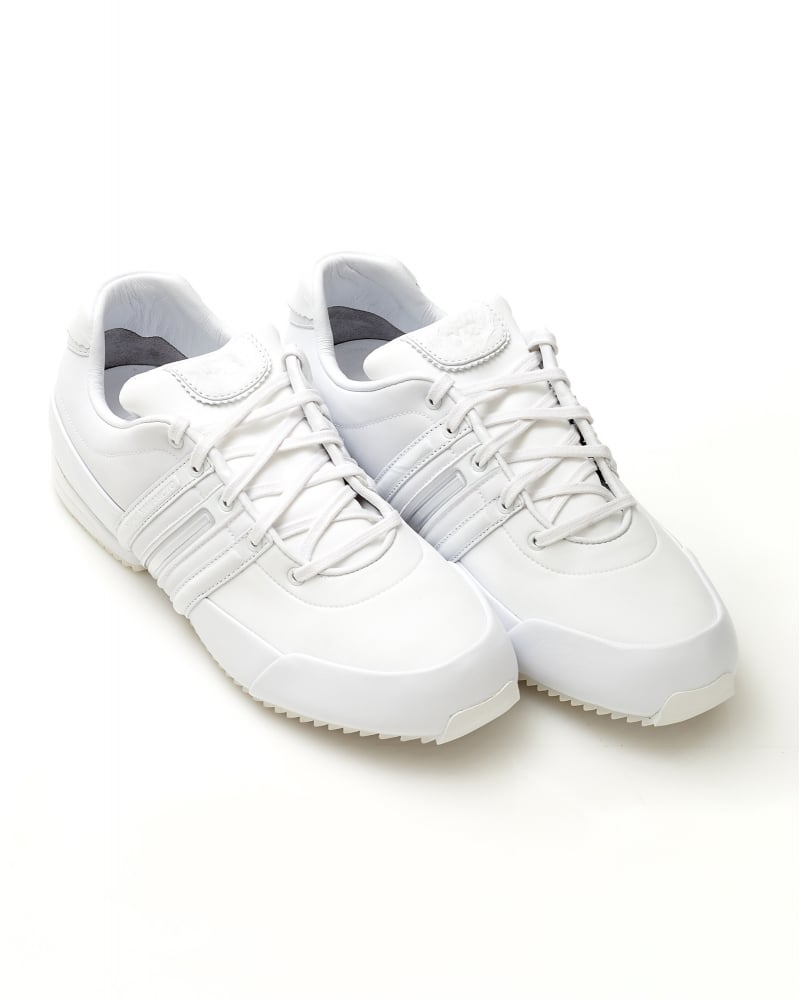 80a4ee63550c Y-3 Sprint Trainers Mens White Leather Trainer