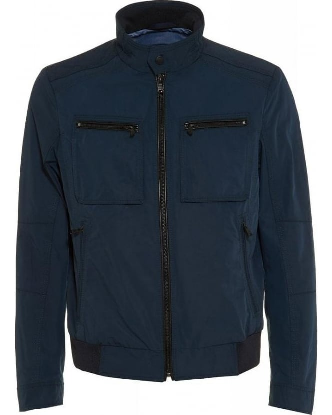 Hugo Boss Black Zip Through Regular Fit Navy 'Capentz' Jacket