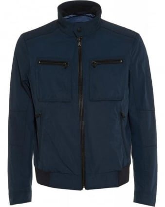 Zip Through Regular Fit Navy 'Capentz' Jacket